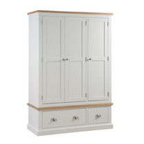 The Ripley Oak Collection Triple Over Three Drawer Wardrobe