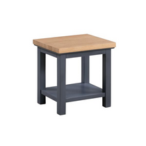 The Richmond Oak Collection Lamp Table With Shelf