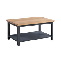 The Richmond Oak Collection Coffee Table With Shelf