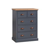 The Richmond Oak Collection Two Over Three Drawer Chest