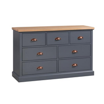 The Richmond Oak Collection Three Over Four Drawer Chest