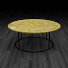 6.Glass coffee table 'Gold Leaf