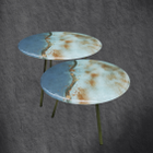 8. Fused Glass coffee tables