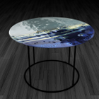 5.Big Blue Fused Glass coffee table