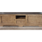 Zephyr  Zinc Top 2 door, 1 Drawer TV Cabinet