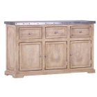 Zephyr  Zinc Top  3 Dr. 3 Door Large Sideboard