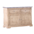 Zephyr  Zinc Top 2 Drawer, 2 Door Medium Sideboard