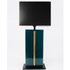 4.Emerald Crocodile glass table lamp
