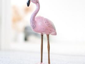Painted Finish Flamingos
