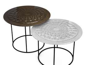 1.Glass Drops coffee tables