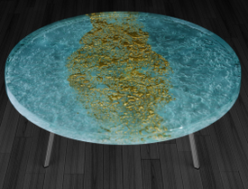 3. Gold River Glass coffee table