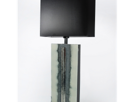Blue/grey glass table lamp