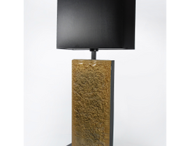 7. Volcano Gold glass table lamp