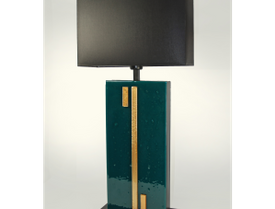 Emerald Gold glass table lamp