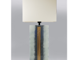 Grey/White fused glass table lamp