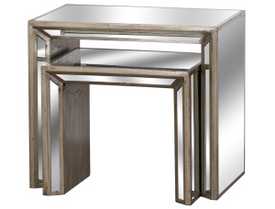 Augustus Mirrored Nest Of Tables