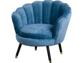 Teal Ribbed Teacup Chair