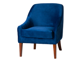 Navy Velvet Modern French Style Chair