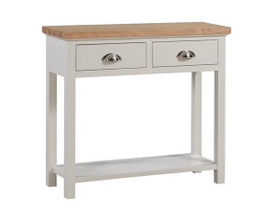 The Ripley Oak Collection Two Drawer Console Table