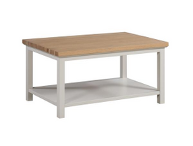 The Ripley Oak Collection Coffee Table With Shelf