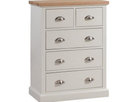 The Ripley Oak Collection Two Over Three Drawer Chest