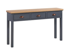 The Richmond Oak Collection Three Drawer Console Table