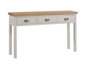 The Ripley Oak Collection Three Drawer Console Table