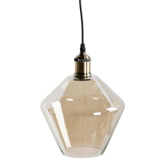 Smoked Glass Cone Pendant Light