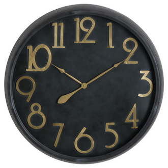 Soho Brass And Stone Large Clock