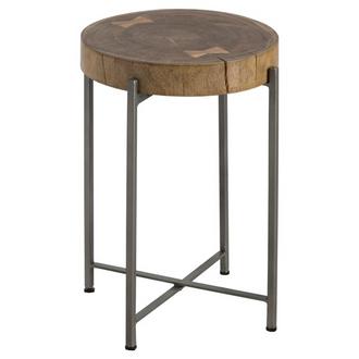 Log Slice Side Table