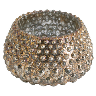 Spotted Candle Holder In Antique Bronze Finish