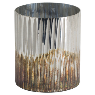Grey And Bronze Large Ombre Candle Holder