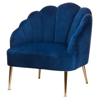 Navy Velvet Teacup Chair