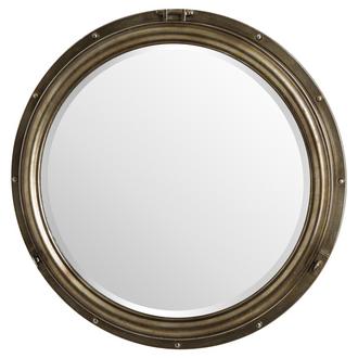 Large Bronze Porthole Mirror