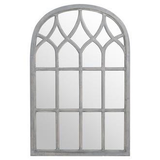 Arched Gothic Grey Window Mirror