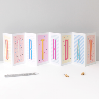 46 'Funky Confetti' Fold-Out Cards