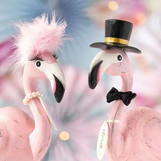 Painted Finish Flamboyant Flamingos