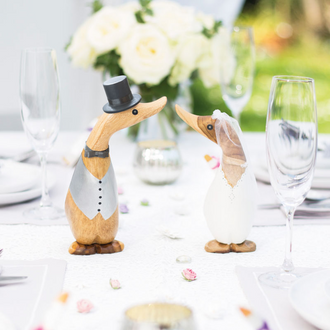 Painted Finish Wedding Ducklings