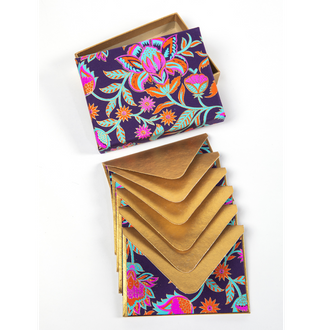Floral Print Handmade Boxed Notecards