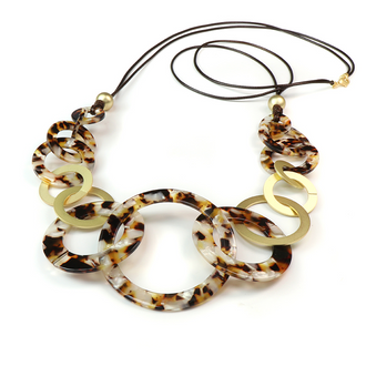 Resin Multi Hoop Necklace