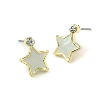 Golden Edged Star Earrings