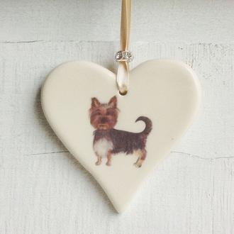 Yorkshire Terrier Handmade Ceramic Heart