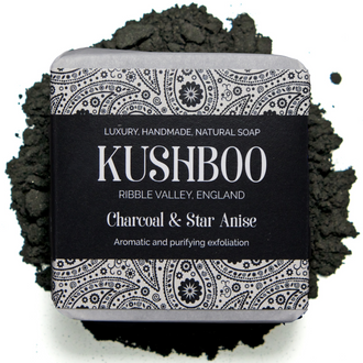 Kushboo Charcoal and Star Anise Vegan Soap