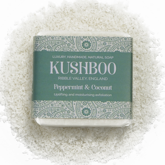 Kushboo Peppermint and Coconut Vegan Soap