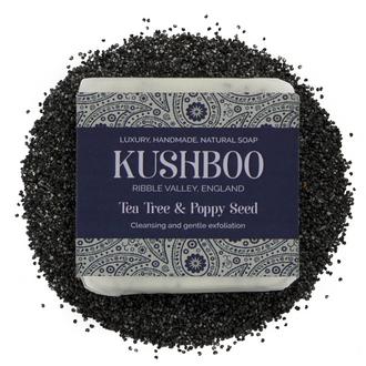 Kushboo Tea Tree and Poppy Seed Soap