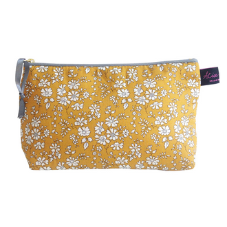 Capel Mustard Cosmetic Bag