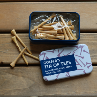 Gifts for Grown Ups - Golfer's Tin of Tees