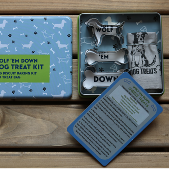 Gifts for Grown Ups - Wolf 'Em Down Dog Treat Kit
