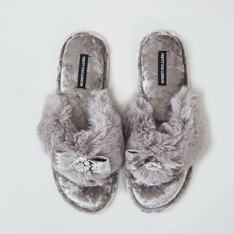 Pretty You London Best Selling Amelie Toe Post Slippers