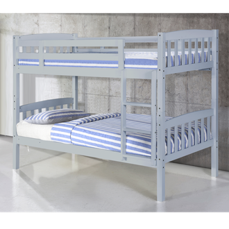 Ashbrook Solid Wood Bunk Bed Grey